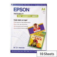 Epson A4 Matt Photo Paper Self-Adhesive (Pack of 10)