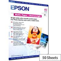 Epson A3 Matt Photo Paper 167gsm (Pack of 50)