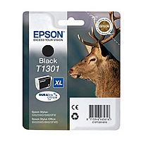 Epson T1301 XL Black High Capacity Ink Cartridge Stag C13T13014010 C13T13014012