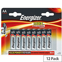 Energizer MAX E91 AA Alkaline Batteries (Pack of 12)