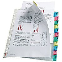 Esselte Index Pocket A4 12-Tab Assorted 130 Micron 414170
