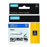 Dymo RhinoPRO 18444 Industrial Tape 12mm White Coloured Vinyl S0718600
