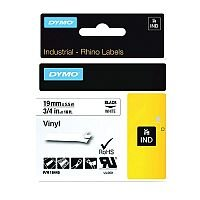 Dymo RhinoPRO 18445 Industrial Tape 1500WT Coloured Vinyl 19mm White S0718620