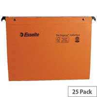 Esselte Orgarex 30mm Vertical Suspension File A4 Pack 25 - With easy tab labelling and open top for quick file identification and file insertion - saving a huge amount of space - perfect for offices of all sizes