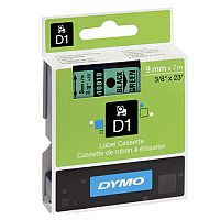 Dymo 1000/5000 Tape 9mm x 7m Black on Green 40919 S0720740
