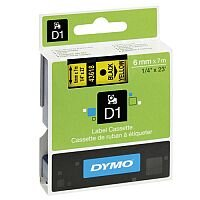 Dymo 1000/5000 Tape 6mm x7m Black/Yellow 43618 S0720790