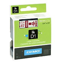 Dymo Red on White 2000/5500 Standard Tape 19mmx7m S0720850