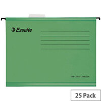 Esselte Green Pendaflex Suspension File A4 Pack of 25