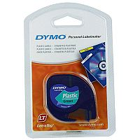 Dymo Letratag Plastic Tape 12mm x4m Dark Green S0721640