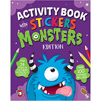 Monster Activity Book with Stickers Pack of 12 26073-MONS
