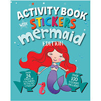Mermaid Activity Book with Stickers Pack of 12 26070-MERM