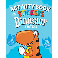 Dinosaur Activity Book with Stickers Pack of 12 26064-DINO