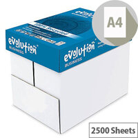 Evolution Business A4 80gsm White Recycled Paper Box of 2500 Sheets EVBU2180