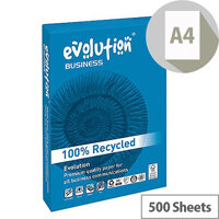 Evolution Business A4 100gsm White Recycled Paper Ream of 500 Sheets EVBU21100