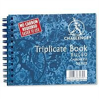 Challenge Triplicate Book Carbonless Ruled 105x130mm Pack 5