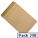 5 Star C4 Mediumweight Manilla 90gsm Envelopes Pocket Press Seal Pack 250 Ref F90022