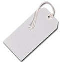 Tags Strung 5CKL 120x60mm White Single Pack of 75