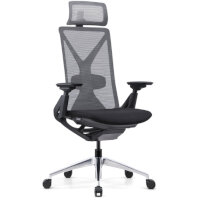 Fercula Executive High Back Mesh Chair with Headrest Black