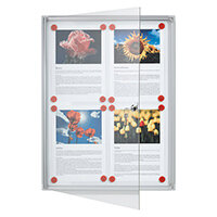 Franken Flat Display Cases ValueLine Magnetic Metal 4 x A4 FSA4
