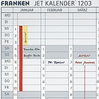 Franken Date Strips W191 x H695mm for Magnetic Annual Planner