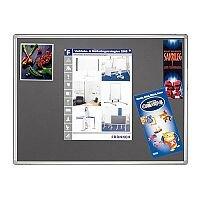 Franken Grey Felt Pin Board PRO Aluminium Frame 1800x900mm PT830712