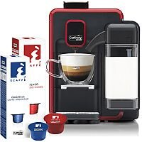 Caffitaly S22 Red & Black Bundle Deal Starter Pack Coffee Machine - Includes a Starter pack of 20 Coffee Pods. Ideal For Office, Canteen, Domestic Use & More.