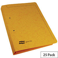 Europa Yellow Spiral File A4 Pack of 25