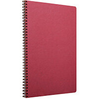 Clairefontaine Age Bag Wirebound Notebook A4 Red Pack of 5 781452C
