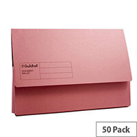 Guildhall Document Wallet Blue Pink Pack of 50 GDW1-PNK