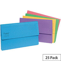 Guildhall Forever Assorted Bright Manilla Foolscap Document Wallet Pack of 25 211/5000