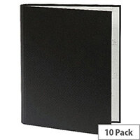 Guildhall A4 Ring Binder 30mm 2 Ring Black Pack of 10 222/0000Z
