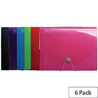 Iderama Expanding Files Assorted Pack of 6 58770E
