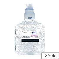 Purell Advanced Hand Sanitiser Hand Rub Gel Refills LTX-12 1200ml (Pack 2)