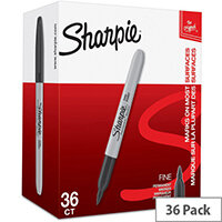 Sharpie Fine Permanent Marker Black Pack of 36 2025040