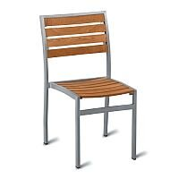 Geneva Solid Teak Outdoor Stacking Chair With Aluminium Frame
