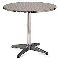 Aluminium 800mm Round Outdoor Cafe & Bistro Table