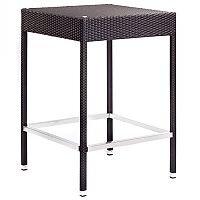 Geneva Square Black Weave Outdoor High Poseur Table