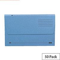 Elba A4 Document Wallet Half Flap Blue Pack of 50
