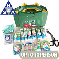 Classroom First Aid School Green Box HSA Kit Wall Mounted 1-10 Person