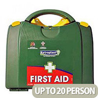Green Box HSE 11-20 Person First Aid Kit – Compliant With Health & Safety Regulation, Wall-Mountable, Durable, Compartmentalised & Hinged Case (1001019)