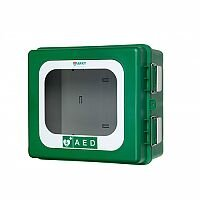 ARKY Heated Outdoor AED Defibrillator Cabinet Green Lockable 003002