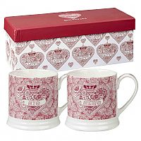 Churchill China Made With Love His & Her Mug Set