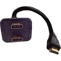 HDMI Male to 2 x Female Splitter Adaptor