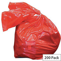 Medium Duty Laundry Soluble Strip Bags Red 80 Litre (Pack of 200) RSB/4