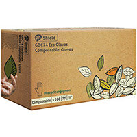 Shield Compostable Disposable Gloves Medium Pack of 2000 GDC74/M