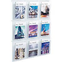 Helit Wall Display 9xA4 Pockets Clear