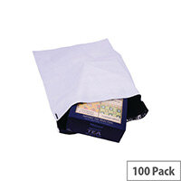 Strong Polythene Mailing Bag 400x430mm White Protective Envelopes Pack of 100