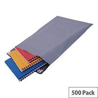 Polythene Mailing Bag Grey 235x320mm Protective Envelopes Pack of 500