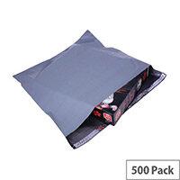 Polythene Mailing Bag Grey 460x430mm Protective Envelopes Pack of 500