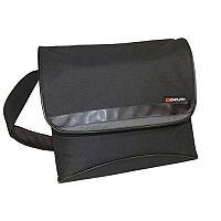 Monolith Nylon Messenger Laptop Shoulder Strap Bag Black/Grey